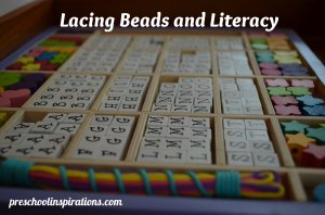 Lacing Beads and Literacy